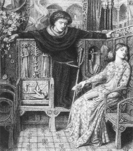 """Hamlet and Ophelia"" by Dante Gabriel Rossetti"