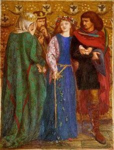 """The First Madness of Ophelia"" by Dante Gabriel Rossetti"