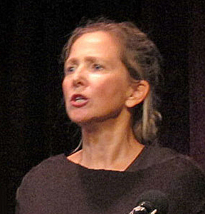 "Ann Richards, in the Theatre Company production of Eli Siegel's lecture ""Ethics is a Living Thing! Southey's <em>Wat Tyler</em>"""