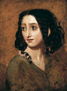 Portrait of Mlle Rachel by William Etty