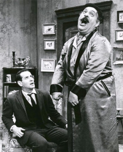 "Zero Mostel, in Ionesco's ""Rhinoceros"""